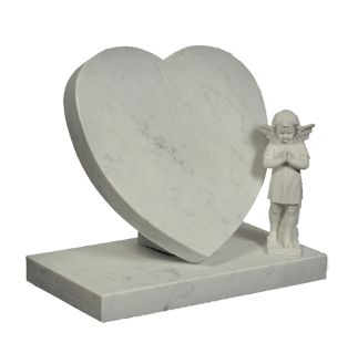 M67 - Heart Tablet with Angel Statue